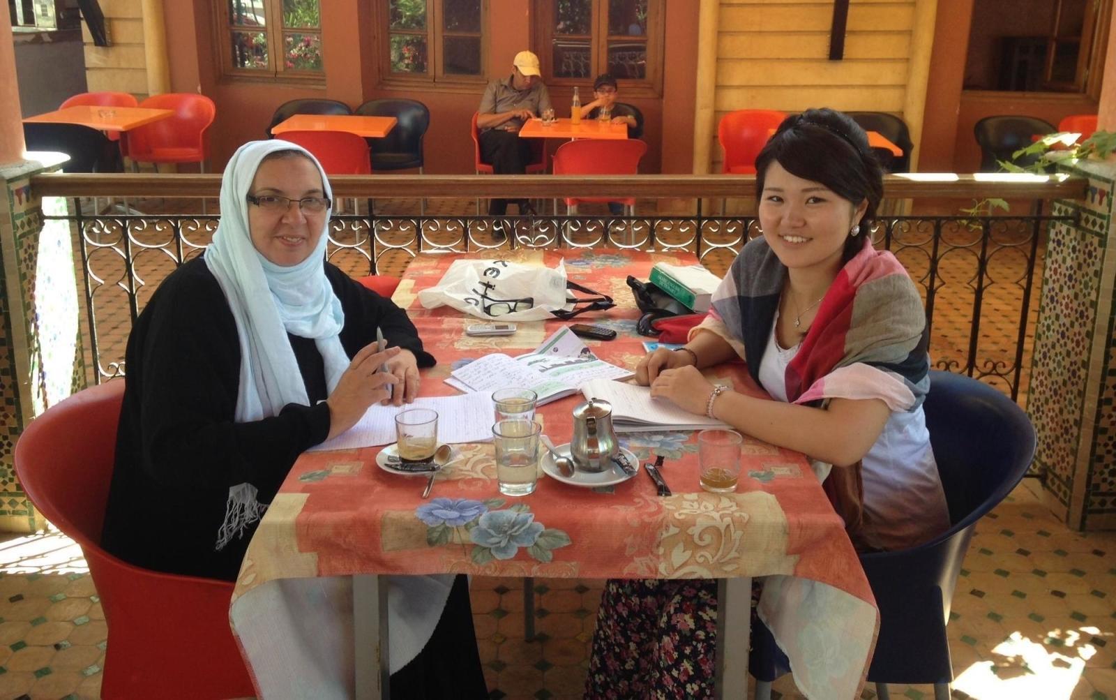 語学留学プログラムに参加中の日本人ボランティア
